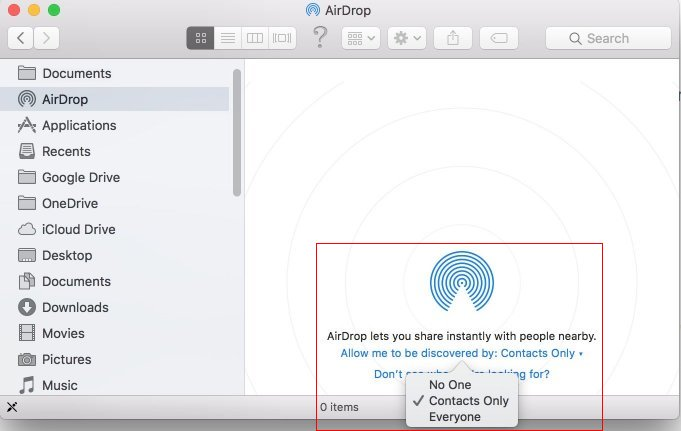 Using Finder to Change the AirDrop Defaults on Your Mac